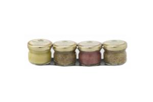 Fallot Dijon Mustard Gift Crate 4 Portions 4x25g