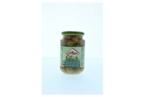 CRESPO PITTED GREEN OLIVES 370ML
